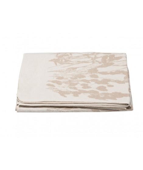 Cotton blanket Silvretta Grass offwhite 140x200