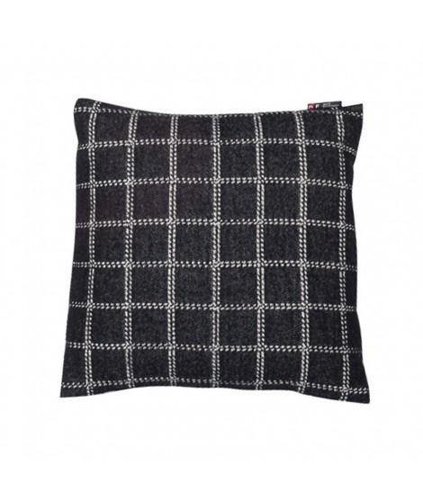 Cotton cushion Nova checkered black 40x40