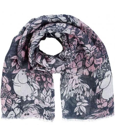 Linen scarf Finn Family rosa 70x200