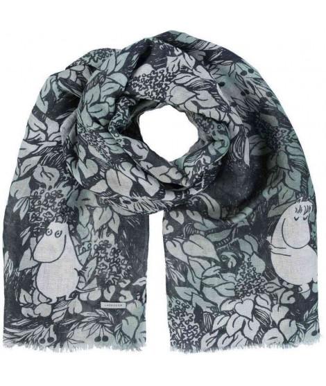 Linen scarf Finn Family green 70x200