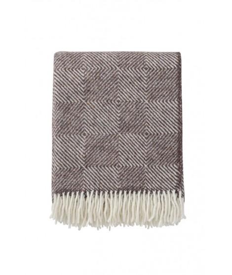 Wool throw Gooseye brown 130x200