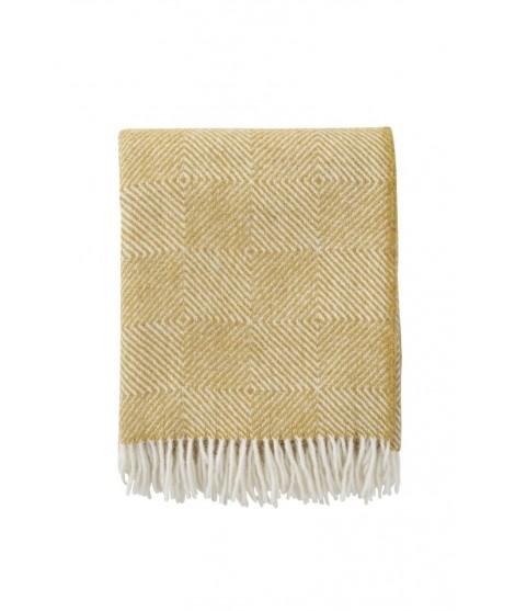 Wool throw Gooseye yellow 130x200